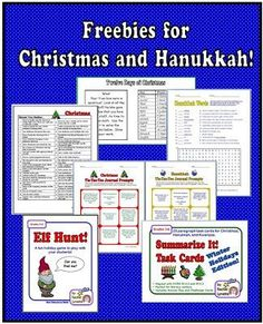 Rachel Lynette has compiled a list of freebies for Christmas and Hanukkah. Check out this list of activities that you can use during the holiday season! Christmas Activities For School, Christmas Ideas, Christmas Hanukkah, Holiday Activities, Vintage Christmas, Christmas Crafts, Writing Resources, Teaching Resources, Teaching Materials