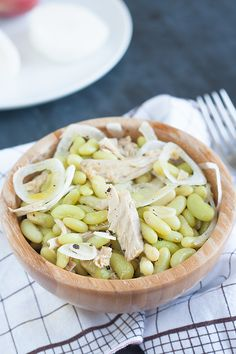 Fresh summer beans and onion salad from Tuscany.