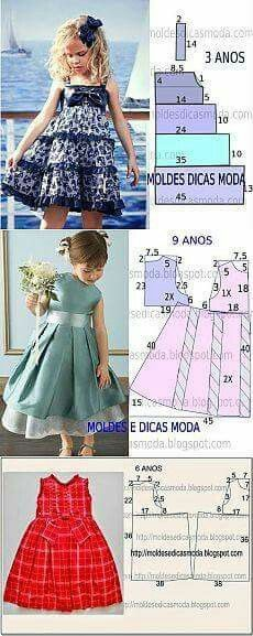 "diy_crafts-Frocks ""Little girl dresses"", ""adorable infant cute little girls dress pattern."", ""diagrams for young girls' dresses"", ""The m Fashion Kids, Fashion Sewing, Toddler Fashion, Fashion Games, Little Dresses, Little Girl Dresses, Girls Dresses, Baby Dresses, Peasant Dresses"