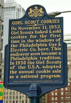 WHO KNEW? The History of Girl Scout Cookies in Philadelphia! #cookies #yum #girlscouts                                                                                                                                                                                 More