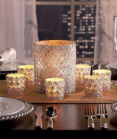 Gold candles new years decor