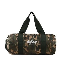 Camo Canvas barrel bag nohow – Nohow Style