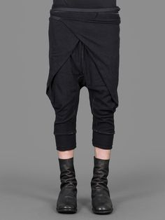 Aleksandr Manamis wrap front cropped pants.