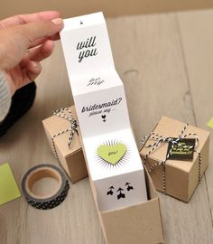 Will You Be My Bridesmaid Favor Boxes! | Smitten On Paper