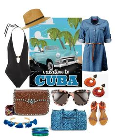 Pack and Go: Hola 🇨🇺 by queencharlotte1 on Polyvore featuring polyvore, мода, style, Boohoo, L'Agent By Agent Provocateur, Valentino, Vera Bradley, Lizzie Fortunato, Marte Frisnes, Dinosaur Designs, Gentle Monster, Topshop, fashion, clothing, getaway, contestentry, Packandgo and vivacuba