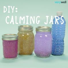 DIY Calming Glitter Jars These would make lovely, thoughtful gifts for kids who have learning or social disabilities. Kids Crafts, Cute Crafts, Crafts To Do, Craft Projects, Arts And Crafts, Science Crafts, Creative Crafts, Recycling Projects, Craft Tutorials