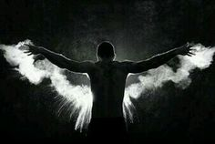 A clap from chalk hands captured an angel...