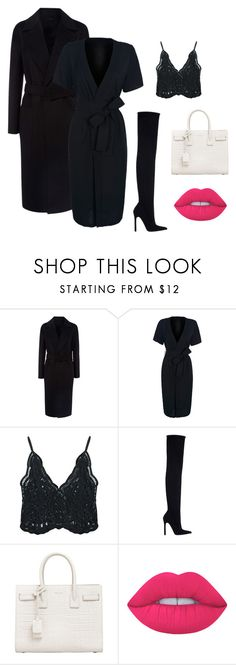 """""""Work Outfit #21"""" by caitkenphotography ❤ liked on Polyvore featuring Joseph, WithChic, Chicnova Fashion, Zara, Yves Saint Laurent, Lime Crime, WorkWear, ootd, saintlaurent and allblackeverything"""