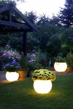 Amazing Garden Lighting In Flower Vase
