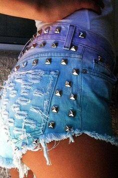 Summer Women Solid Denim Jeans Rivet Mini Tassel High Waist Shorts Pants New