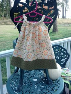 Adorable Flannel pillow case dress for baby  size by Corrinabella, $22.00