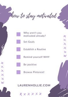Checklist for how to get your motivation back! Setting Goals, How To Stay Motivated, Positivity, Posts, Writing, Motivation, Blog, Messages, Blogging