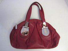 Cromia Purse Handbag Red Leather #Cromia #Hobo