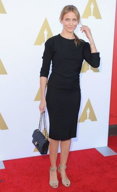Cameron Diaz in Hollywood. #poshpoint #ontheredcarpet #CameronDiaz #AMPAS #IsabelMarant #Givenchy #Chanel #Hollywood #Fashion