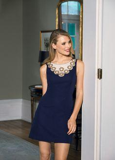 Lily Pulitzer dress with embellished sleeves #belk #LookBook