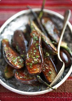 Eggplant Stewed in Honey and Spices by The Traveler's Lunchbox - delicious sauce