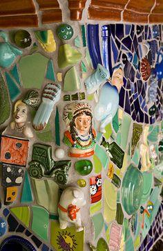 Mosaic Tiles, Mosaics, China Wall, Mosaic Projects, Art Inspo, Fun Crafts, Objects, Flooring, Cool Stuff