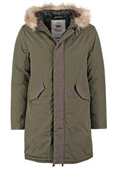 Topman Gewatteerde jas khaki/olive Meer info via http://kledingwinkel.nl