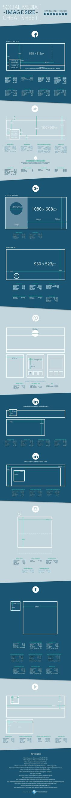 Social Media Image Size Cheat Sheet for 2016