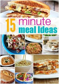 Short on time? Give these easy but delicious 15 minute meal ideas a shot!