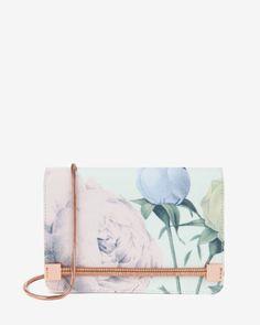 Distinguishing rose clutch bag - Mint | Bags | Ted Baker UK