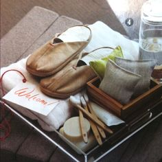 Make yourself at home! How about a mini-house-warming basket upon check-in?
