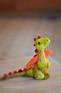 Needle Felted Dragon  Felted Miniature by BearCreekDesign on Etsy
