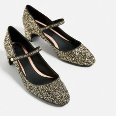 Image 1 of GLITTER HIGH HEEL SHOES from Zara
