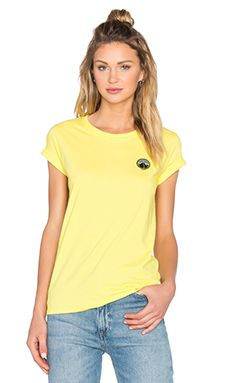 Patagonia Rivet Logo Tee in Blazing Yellow
