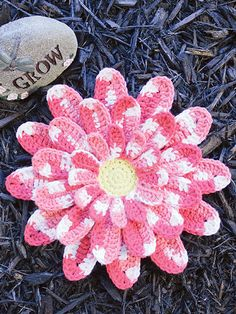 Darling Dahlia dishcloth [crochet in 3 hours] -- Pattern booklet $4.95 for 5 patterns