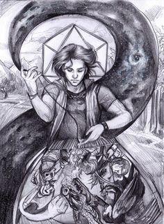 Weaver of Worlds  By @elaineryanart