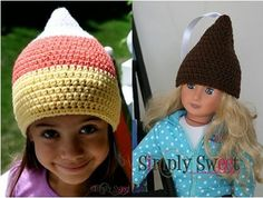 Make a Kiss this Valentines Day for your sweetie - Simply Sweet: Candy Corn & Kiss Beanie (Infant & Toddler) - Free Pattern