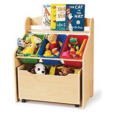 Wooden Toy Box Chest + Organizer Storage Book Shelf + Bins to Organize Kids Toys $101.65