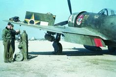 P-47 Thunderbolt of the Brazilian air force being loaded in Italy.