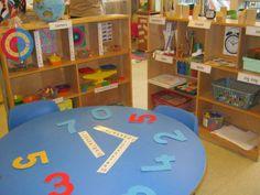 Maths area at Kidsunlimited Hamilton