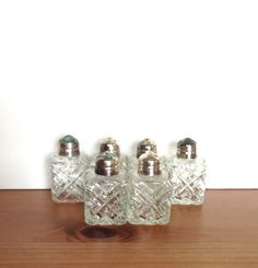 Mini salt and pepper shakers vintage textured by Acrossthegap, $8.00