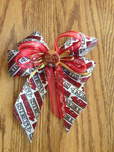 san francisco 49ers hair bow