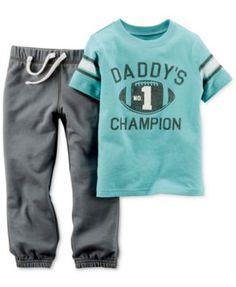 0c66ff1ef Carter's Baby Boys' 2-Piece Football Champion Shirt & Pants Set & Reviews -  Sets & Outfits - Kids - Macy's