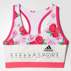adidas Stellasport Floral All-Over Print Women's Padded Bra Stella Mccartney Adidas, Sports Equipment, Sport Outfits, Adidas Women, Active Wear, Athletic, Shopping, Clothes, Shoes