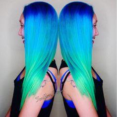"Toni Rose Larson on Instagram: ""Chameleon#pravana #inspirehairstyles #modernsalon #btcpics #hotonbeauty #hairandnailfashion #hairandmakeup #stylistshopconnect #colordollz #colordollzbytoni"""