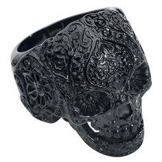 Skull Tattoo ring fra Wildcat    - L: 29 mm  - B: 20 mm  - Rustfrit stål.