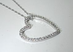 1.40ct Diamond Heart Shape Necklace 18kt JEWELFORME BLUE