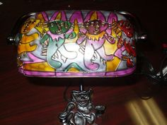 NEW COLLECTIBLE GRATEFUL DEAD ART INSPIRED DANCING BEARS BANKER TIFFANY LAMP #Unbranded #StainedGlass