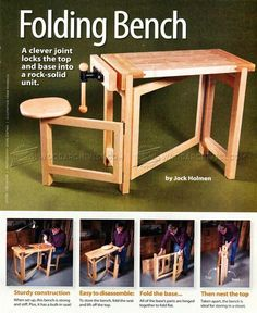 #2600 Folding Wood Carving Bench Plans - Wood Carving #woodworkingbench