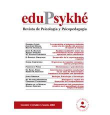 Edupsykhé [recurs electrònic] : revista de psicología y psicopedagogía Villafranca del Castillo : Universidad Camilo José Cela, Departamento de Psicología y Educación, DL2002-