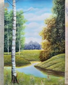 10 Landscape Painting Ideas For Beginners Painting Tutorials Videos Part 3 Painting Videos, Painting Techniques, Painting & Drawing, Watercolor Paintings, Painting Tutorials, Drawing Poses, Landscape Artwork, Step By Step Painting, Beginner Painting