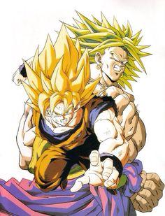 Goku and Broly.