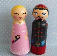 Hand Painted Love Boxes Clara and her Nutcracker Prince by handpaintedloveboxes via Etsy 115.00 per set