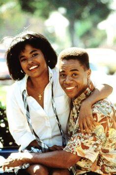 "Nia Long and Cuba Gooding Jr. ""Boyz In The Hood"" hood classic movie Aaliyah, Hollywood Actresses, Actors & Actresses, Dope Movie, African American Movies, Nia Long, Black Actors, Short Black Hairstyles, Black Love"
