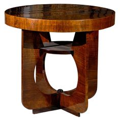 Hungarian Art Deco Side Table with Cut Out Legs | From a unique collection of antique and modern side tables at http://www.1stdibs.com/furniture/tables/side-tables/